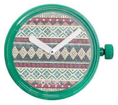 O clock klokje people africa green
