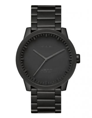 LEFF Amsterdam Tube Black horloge