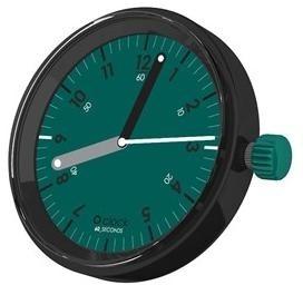 O clock klokje 60 Seconds green on green