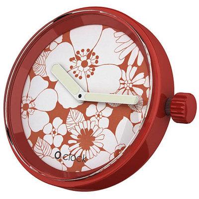 O clock klokje flower red