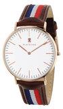 Black Oak Sailor brown blue white red 40 mm horloge