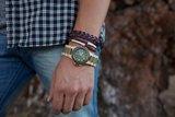 WeWOOD Date Beige/Army horloge