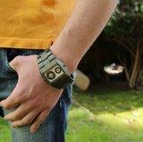 WeWOOD Jupiter Army horloge