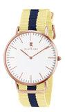 Black Oak Velutino yellow blue 40 mm horloge