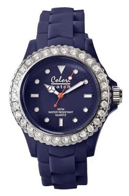 Colori Watch Crystal Navy Blue