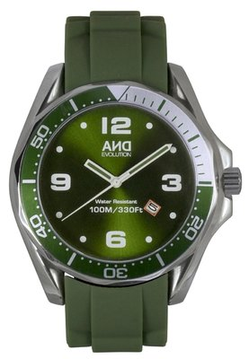AND Evolution Wet Rubber Date Green Army L