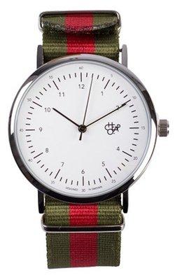 CHPO Harold Green red horloge