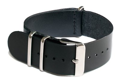 Cheapo Black leather horlogeband