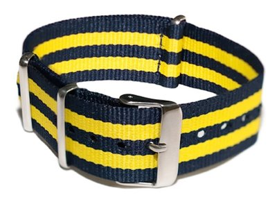 Cheapo Blue/yellow horlogeband