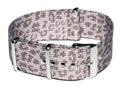 Cheapo Leopard grey horlogeband
