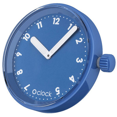 O clock klokje Numbers capri blue