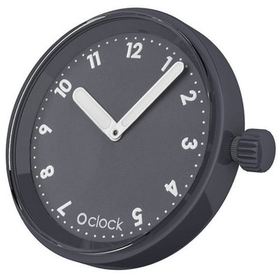 O clock klokje Numbers dark grey