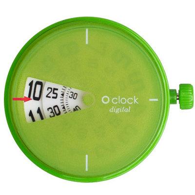 O clock klokje digital green