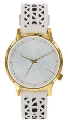 Komono Estelle Cutout White Gold horloge