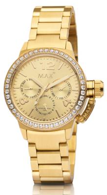 MAX Artisan Zirkonia Gold horloge