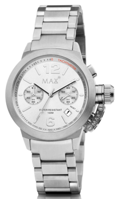 MAX Artisan Big Chrono Silver horloge