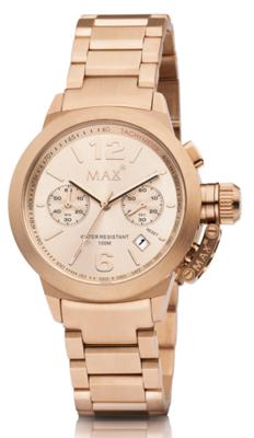 MAX Artisan Big Chrono Rosé horloge