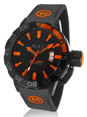 MAX Scuba Black/Orange horloge