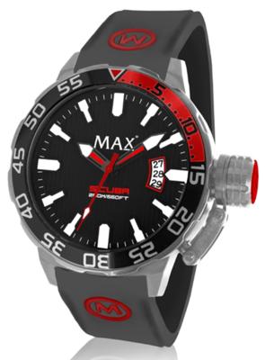 MAX Scuba Black/Red horloge