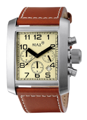 MAX Square Chrono Brown horloge