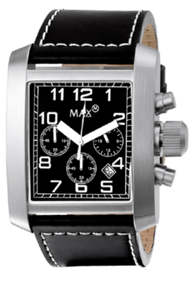 MAX Square Chrono Black horloge