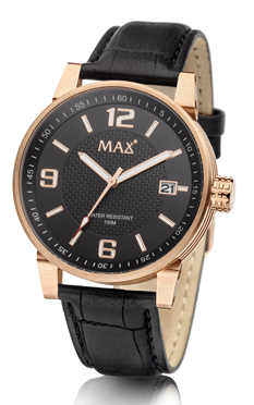 MAX Gentleman Black/Gold horloge