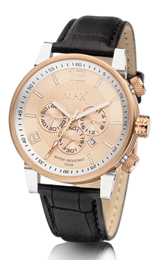 MAX Gentleman Chrono Gold horloge