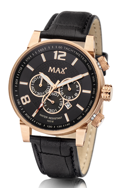 MAX Gentleman Chrono Black/Gold horloge