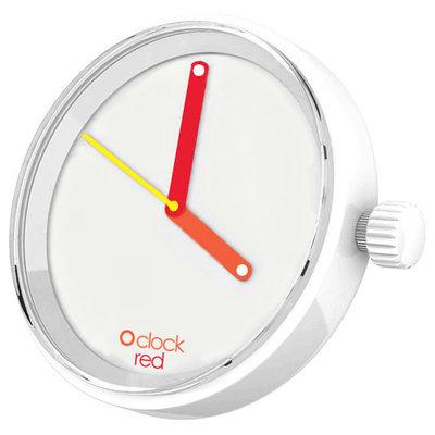 O clock klokje red hands