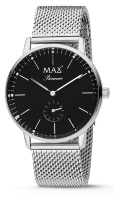 MAX Pionnier Silver/black horloge