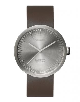 LEFF Amsterdam Tube Steel/Brown horloge