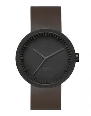 LEFF Amsterdam Tube Black/Brown horloge