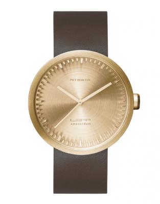 LEFF Amsterdam Tube Gold/Brown horloge