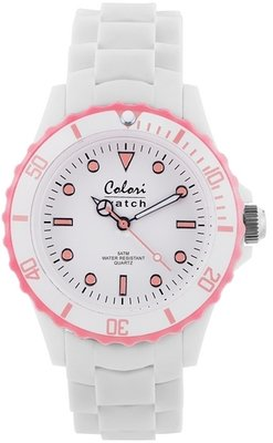 Colori Watch White Summer Baby Pink