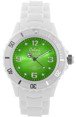 Colori Watch Bright White Green