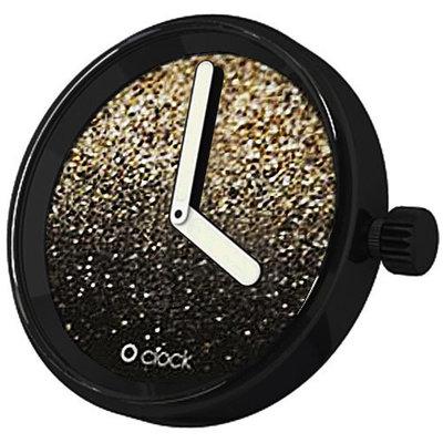 O clock klokje Glitter gold