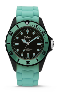 Colori Watch Colour Combo Mint Green Black horloge