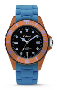 Colori Watch Colour Combo Blue Orange horloge