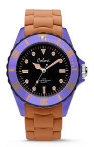 Colori Watch Colour Combo Lilac Orange horloge