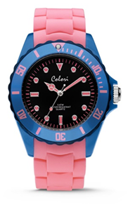 Colori Watch Colour Combo Pink Blue horloge
