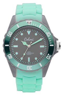 Colori Watch Colour Combo Grey Mint horloge