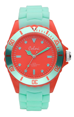 Colori Watch Colour Combo Red Mint horloge