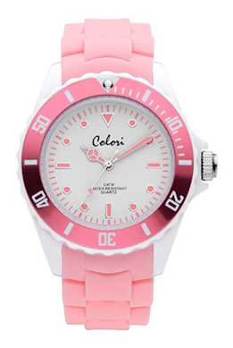 Colori Watch Colour Combo Grey Pink horloge