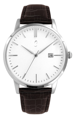 Colori Watch Connaisseur White Dark Brown Silver horloge