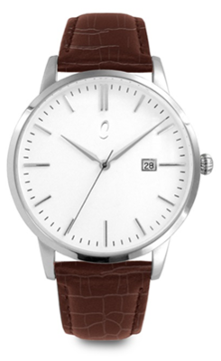 Colori Watch Connaisseur White Brown Silver horloge
