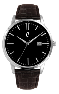 Colori Watch Connaisseur Black Dark Brown Silver horloge