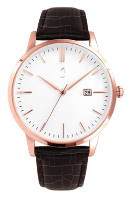 Colori Watch Connaisseur White Dark Brown Gold horloge