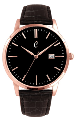 Colori Watch Connaisseur Black Dark Brown Gold horloge