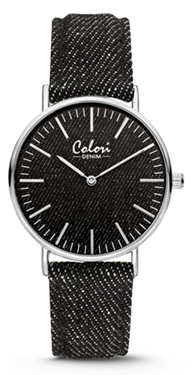 Colori Watch Denim Black horloge