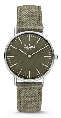 Colori Watch Denim Green horloge